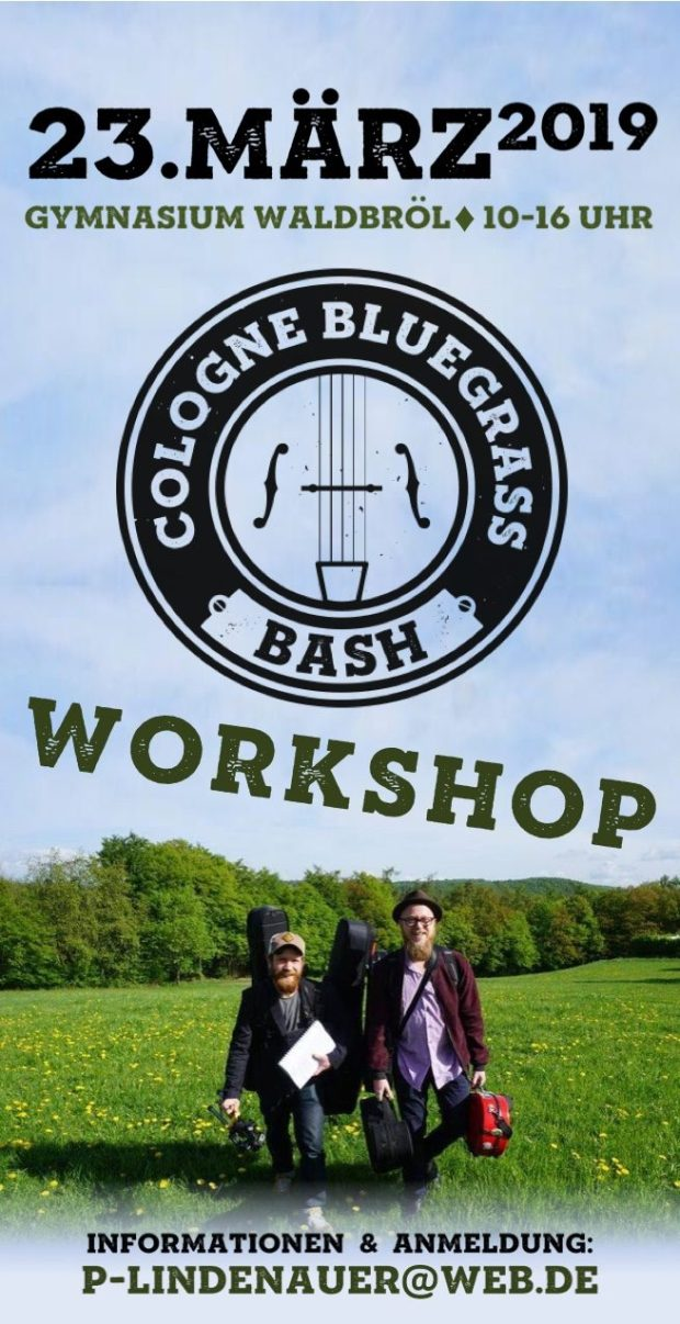 Flyer Cologne Bluegrass Bash Workshop März 2019